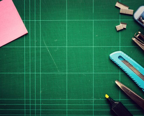 a Product design agency cutting board and tools