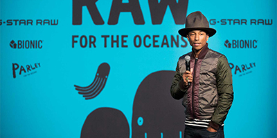 Pharell Williams Speaks at G-star RAW event