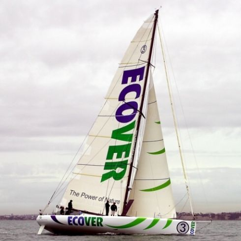 Ecover-branded yacht at The Ocean Race