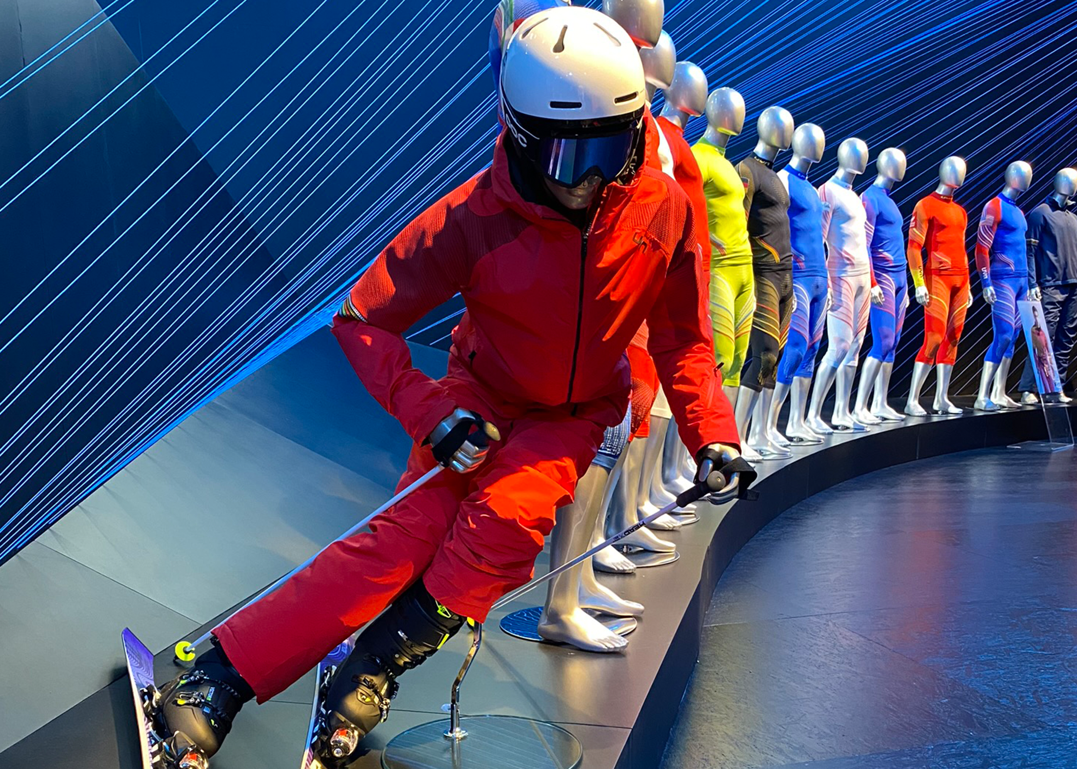 Technical sportswear for snow sports