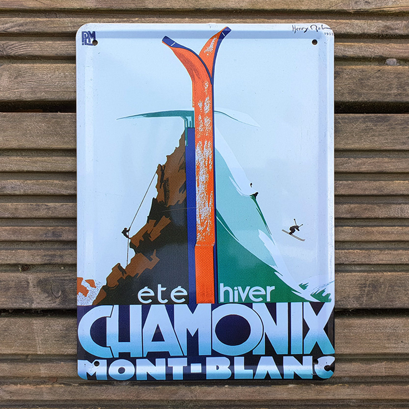 Vintage skiing poster as a metaphor for innovation in a crisis