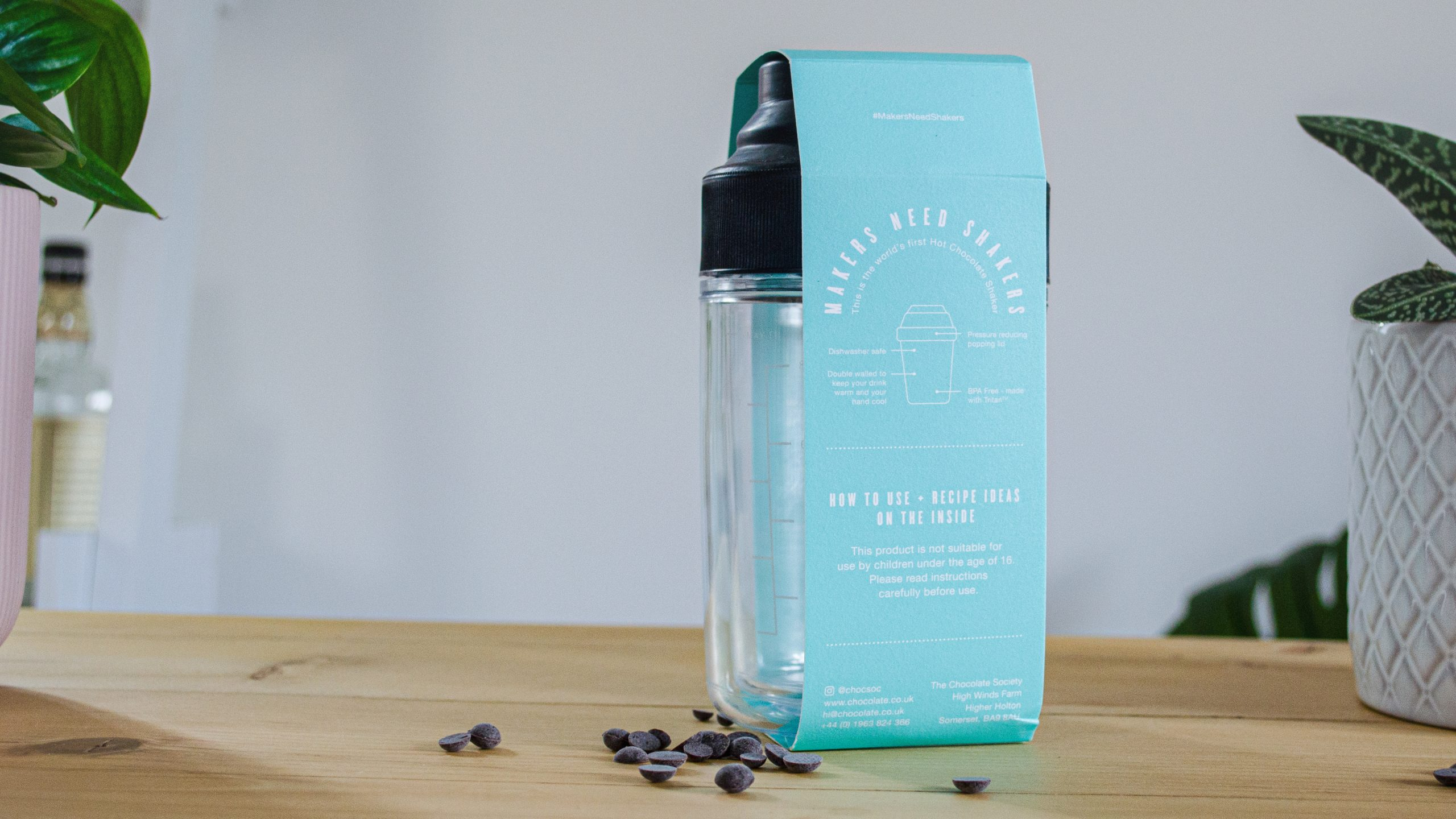 Product and packaging of world's first chocolate shaker designed by Realise