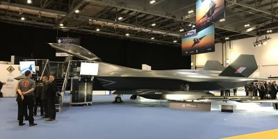 Tempest fighter jet at DSEI